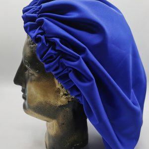 bonetă de păr albastru electric