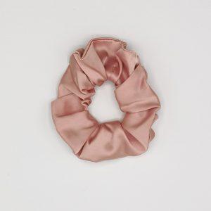 elastic de păr roz pudră