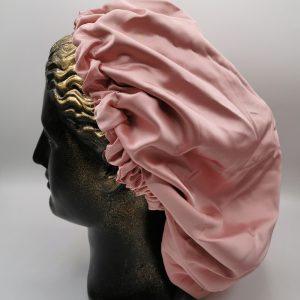 bonetă de păr roz pudră