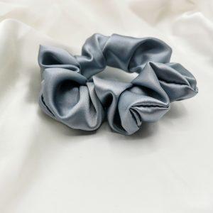 Elastic de păr din mătase lake blue