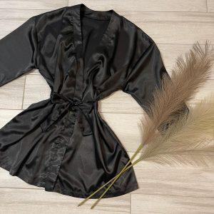 halat satin negru